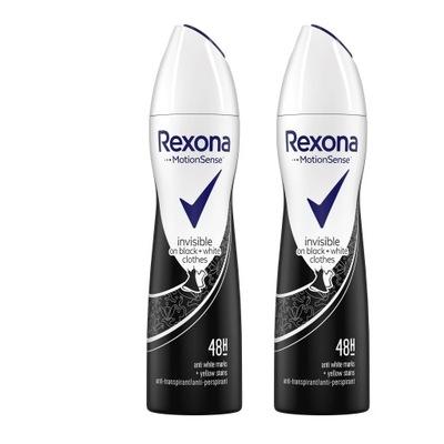 Rexona Invisible on black+white Dezodorant 2x150ml