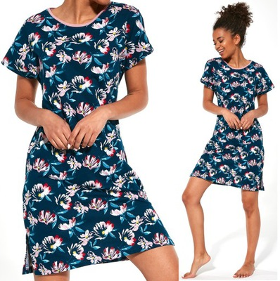 Koszula nocna damska bawełna 100% 44 XL 7408398055  r551Y