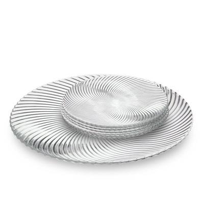 Patera do ciasta szklana talerzyki deserowe 6 szt