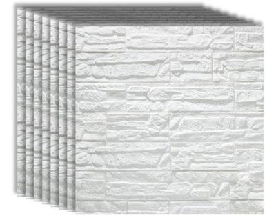8x TAPETA CEGŁA 3D SAMOPRZYLEPNA PANELE DIY 60x60