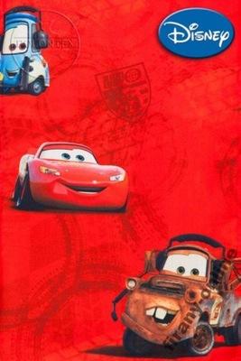 Zasłona dziecięca CARS 80x160 cm drukowana czerw