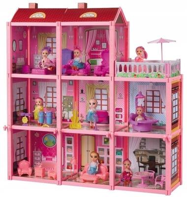 VEĽKÉ domček pre bábiky VILLA ÚDAJE NÁBYTOK, TERASA