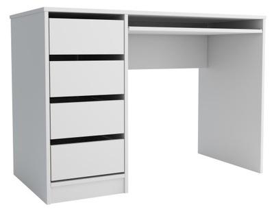 Biurko młodzieżowe białe 4 szuflady 110 cm ML