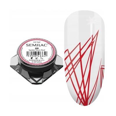 SEMILAC SPIDER GUM ŻEL DO ZDOBIEŃ - 09 RED NEON