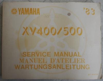 FABRYCZNA MANUAL REPARACIÓN YAMAHA XV400/500 1983