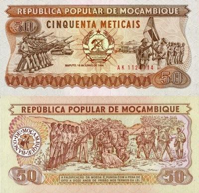 # МОЗАМБИК - 50 METICAIS - 1986 - P129 - UNC