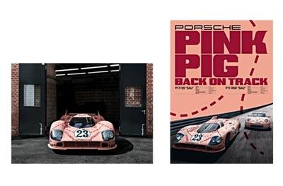КОМПЛЕКТ PLAKATOW PORSCHE 917 PINK PIG