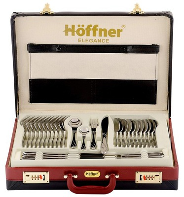 Столовые приборы Хоффнер 84 элем Чемодан комплект 12 человек