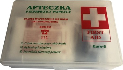BOTIQUÍN B-EURO-8 PRZEZROCZYSTA