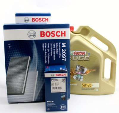 FILTRY BOSCH+OLEJ CASTROL 5W30 5L VW GOLF V PASSAT