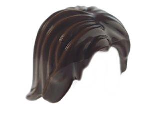 LEGO Włosy ciemny brązowy 88283