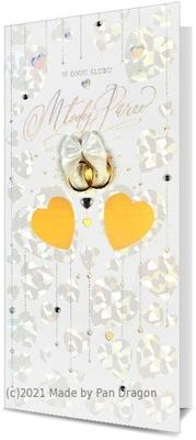 Kartka na ślub z życzeniami delikatna urocza H1809