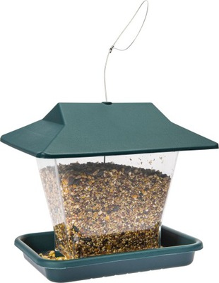 Кормушка для птиц, зимующих будка домик лоток