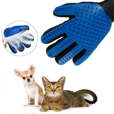 Rękawica szczotka do czesania sierści psa kota