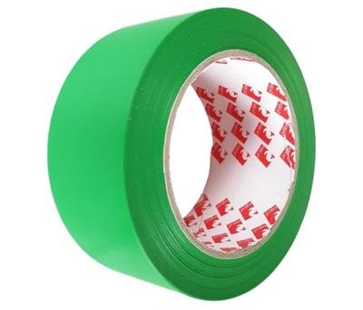 Taśma oznaczeniowa ostrzegawcza 50mm/33m zielona