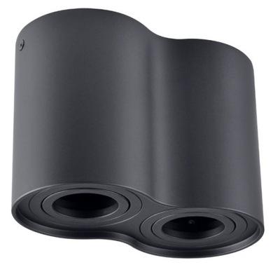 Lampa sufitowa nowoczesna natynkowa HADAR R2 black