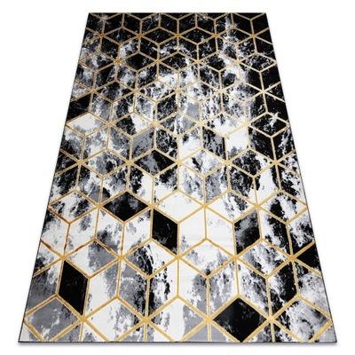 DYWAN GLAMOUR 80x150 KOSTKI czarny/złoty #AT3256