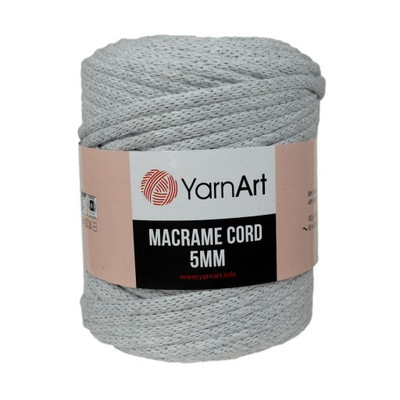 500? шнурок Macrame Cotton Cord 5 мм попель 756