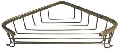Polička rohová vaňa 240x40x150mm bronz retro