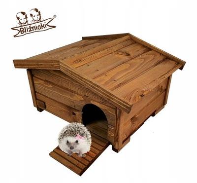 Drewniany Domek dla JEŻY Legowisko Budka lęgowa