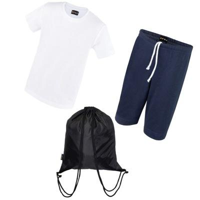 Bawełna strój sportowy W-f 110 + worek dwukomorowy