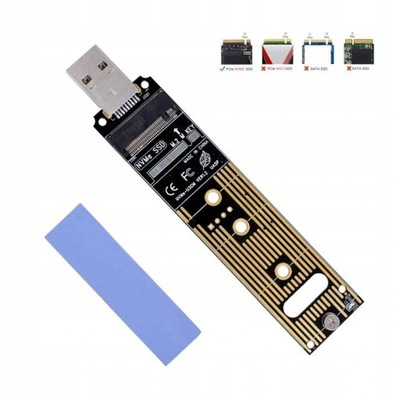 Adapter M.2 NVMe PCIe SSD do USB 3.1 3.0