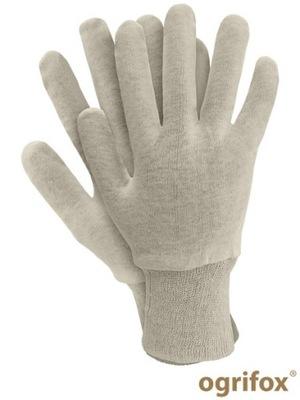RĘKAWICZKI bawełniane rękawice ochronne białe 12x