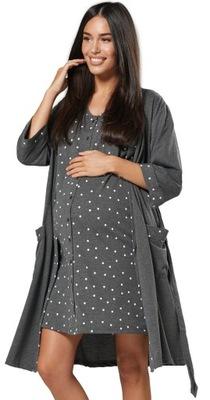 Chelsea Clark Zestaw ciążowy koszula szlafrok 1343