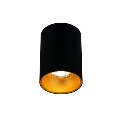 Oprawa halogenowa tuba LED złota GU10 natynkowa