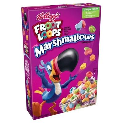 Płatki śniadaniowe z USA Froot Loops Marshmallow