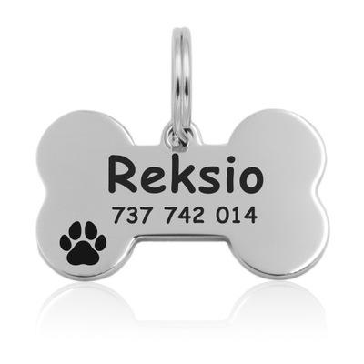 adresówka Идентификатор для Собаки Кошки Кость Металл