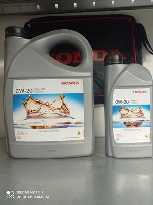 Oryginalny olej silnikowy HONDA 0W20 TYPE2.0 4L+1L