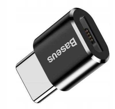 Adapter OTG Baseus Micro USB do USB Type-C -czarny