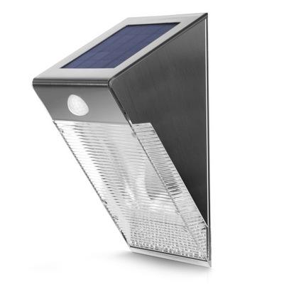 Lampa solarna ścienna ZEWENĘTRZNA czujnik ruchu