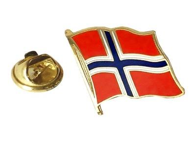 Przypinka NORWEGIA Pins Flaga NORWEGII - falista
