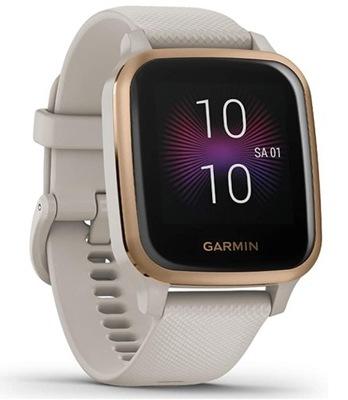 Smartwatch GARMIN Venu Sq Music Piaskowo Złoty