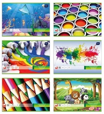 Blok rysunkowy A4/20k kolorowy Interdruk