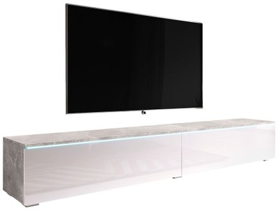 Szafka pod telewizor z opcją podświetlenia - BETON