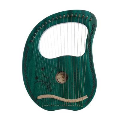 harfa lira 16 strun - zielony 19 string