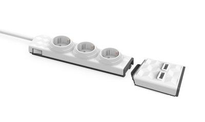 ??????????  3 schuko розетки 2x USB 1м PowerStrip