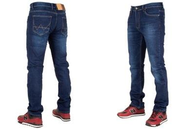 Spodnie męskie jeans W:38 100CM L:32 granatowe