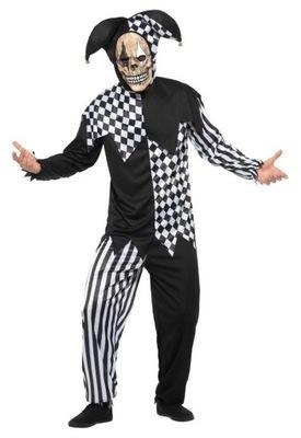 Strój Błazen Przebranie szkielet Halloween XL