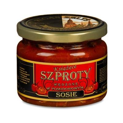 Княжеские Шпроты копченые в томатном соусе 250г