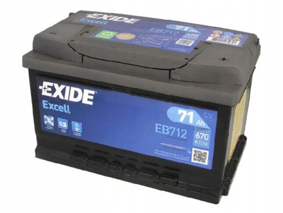 EXIDE EXCELL 71Ah 670A EB712