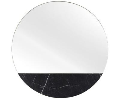 Okrúhle nástenné zrkadlo z imitácie mramoru v Štokholme