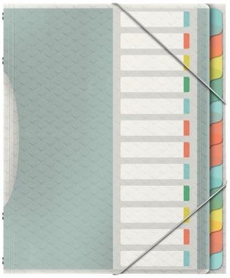 Teczka segregująca Esselte Colour`Ice 12 przekład.