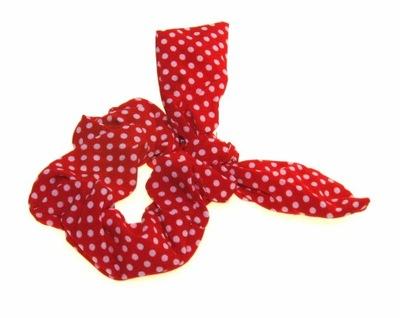 Lucy gumka owijka czerwona kokarda kropki