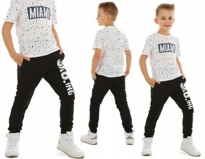 Spodnie dresowe dla chłopca SKA8TING - 116 CZARNY