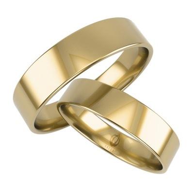Obrączka płaska prosta 6 mm z złota 585 14K żółte