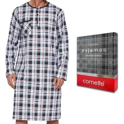 Koszula nocna męska CORNETTE ze szlafmycą - L